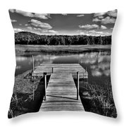 Dock On The Moose River Throw Pillow