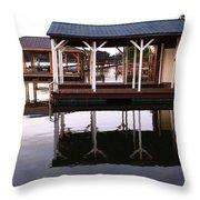 Dock Reflections Throw Pillow