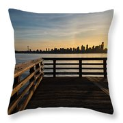 Dock With A View Throw Pillow