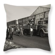 Dock Workers 3 Throw Pillow