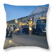 Dock Workers Throw Pillow