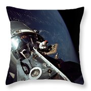 Docked Apollo 9 Command And Service Throw Pillow