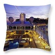 Docked In Monte Carlo Throw Pillow