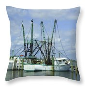 Docked In Port Orange Throw Pillow