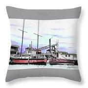 Docks N Boats Throw Pillow