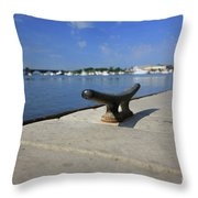 Dock's View Throw Pillow