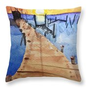 Dockside 2015 Throw Pillow