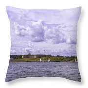 Dockside At Fort Trumbull Throw Pillow