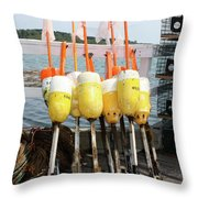 Dockside Huddle Throw Pillow
