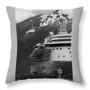 Dockside In Skagway Throw Pillow