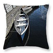 Dockside Quietude Throw Pillow