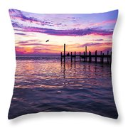 Dockside Sunset Throw Pillow