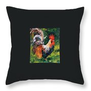 Dockyard Fowl Throw Pillow