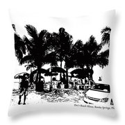 Doc's Beach House Throw Pillow