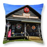 Doc's Country Store Throw Pillow