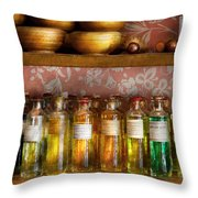 Doctor - Colorful Cures  Throw Pillow by Mike Savad