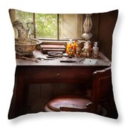 Doctor - Research  Throw Pillow by Mike Savad