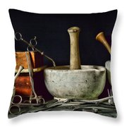 Doctor All Those Medical Instruments Throw Pillow