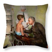 Doctor - At The Pediatricians Office 1925 Throw Pillow