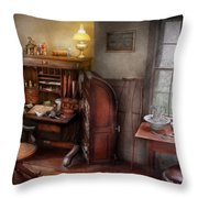 Doctor - In The Doctors Study  Throw Pillow