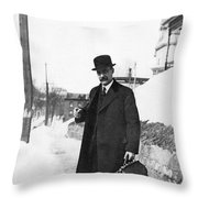 Doctor Making A House Call Throw Pillow