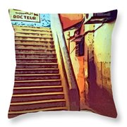 Doctor's Office In Tangier Throw Pillow