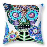 Dod Art 123blu Throw Pillow