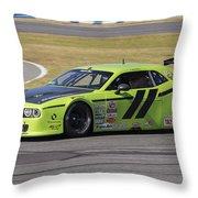 Dodge Challenger At Daytona Speedway Throw Pillow