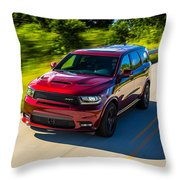 Dodge Durango Srt 2018 Throw Pillow