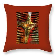 Dodge Grill Throw Pillow