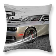 Dodge Hellcat Throw Pillow