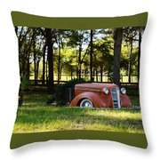 Dodge Ram Yard Art 2 Throw Pillow
