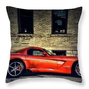 Dodge Viper Throw Pillow