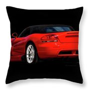 Dodge Viper 'red Tail' Roadster Throw Pillow