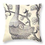 Dodo Bird Rodriguez Solitaire, Extinct Throw Pillow