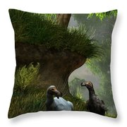Dodos In The Forest Throw Pillow