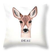 Doe Deer Throw Pillow