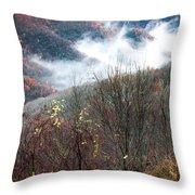 Doe On Autumn Ridge Throw Pillow