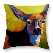 Doe Portrait V Throw Pillow
