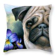 Dog #133 Throw Pillow