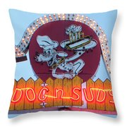 Dog And Suds Throw Pillow