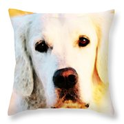 Dog Art - Golden Moments Throw Pillow