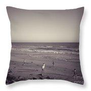 Dog Beach Throw Pillow