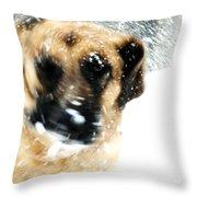Dog Blizzard - German Shepherd Throw Pillow