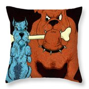 Dog Fight Stand Off Throw Pillow