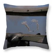 Dog Fight Unique View Throw Pillow