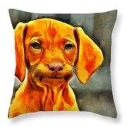 Dog Friend Throw Pillow