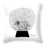Dog Globe Throw Pillow