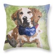 Dog In Bow Tie Throw Pillow