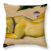 Dog Lying In The Snow Throw Pillow